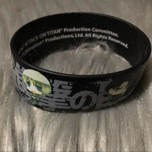 Attack on titan rubber bracelet